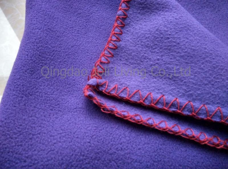 100 Polyester Anti Pilling Polar Fleece Blanket In Navy